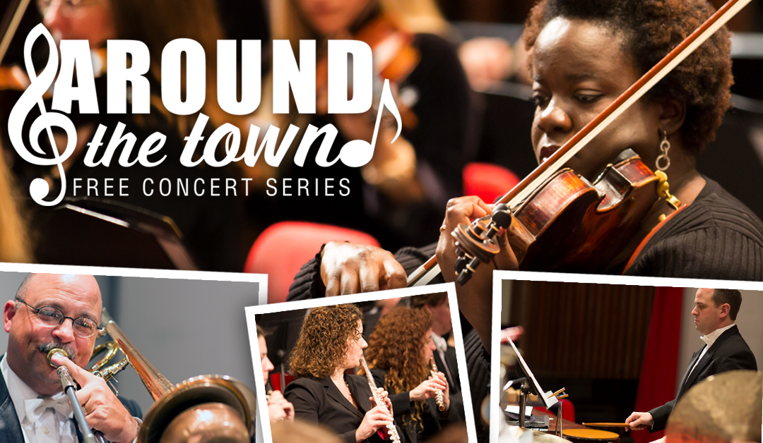 Listen LIVE to a Percussion Ensemble from the  Illinois Symphony Orchestra at FREE Around the Town Concert