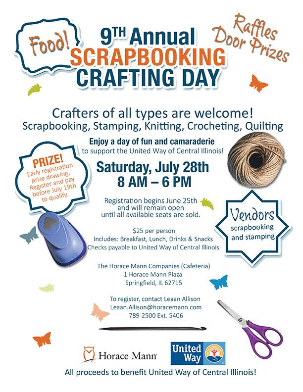 9th Annual Scrapbooking And Crafting Day With Horace Mann